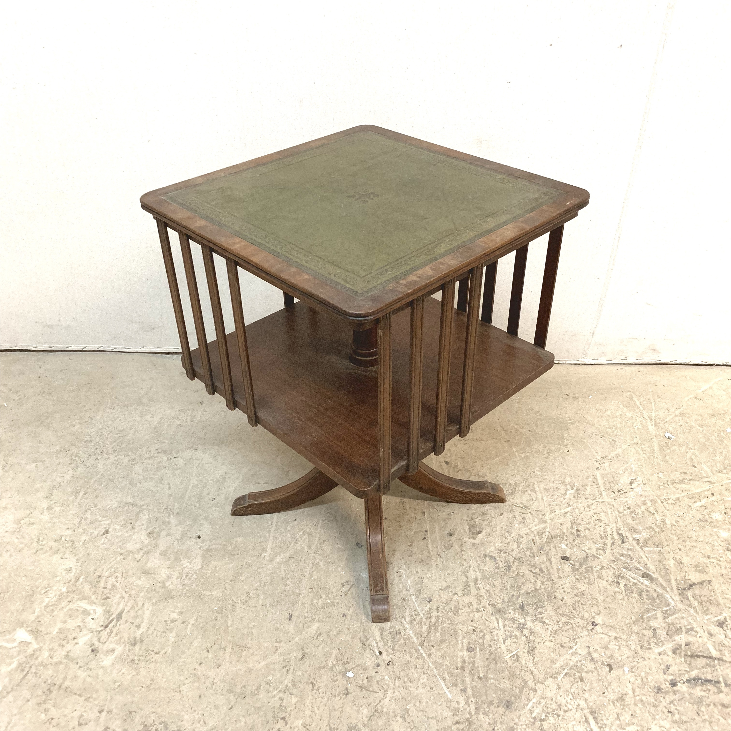 Vintage English Revolving Book Table