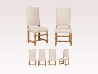Six Italian Baroque Style Chairs