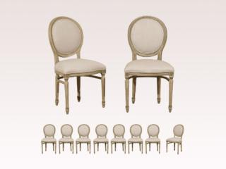 Set of 10 Oval Back Chairs
