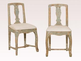 Pair of Period Rococo Side Chairs