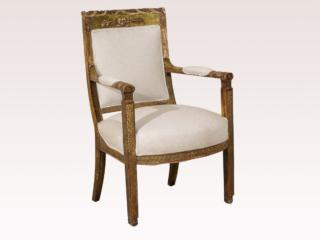 An Italian Carved Accent Armchair