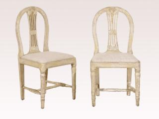 Pair of Swedish Wheat Back Chairs