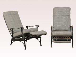 Mid 20th Reclining Patio Chairs