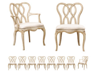 A Set of 10 Venetian Style Chairs
