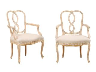 Pair of Italian Style Arm Chairs