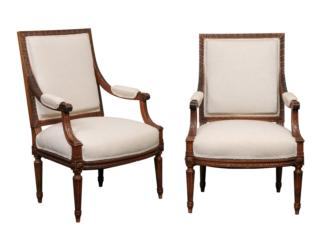 Nicely Carved French Arm Chairs