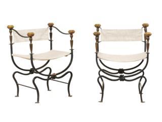 Italian Curule Savonarola Chairs