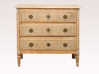 3-Drawer Chest, Natural Finish