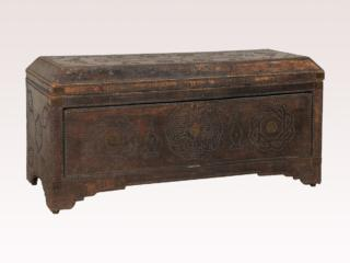 An Italian Wood and Leather Trunk