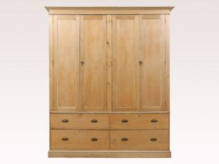 English Natural Finish Cabinet