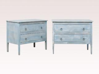 Pair of American Painted Chests