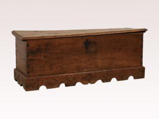 Spanish 18th C. Large Wood Coffer