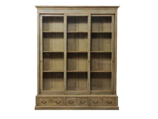 Large French Glass Door Bookcase