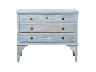 Blue Toned Vintage 3-Drawer Chest