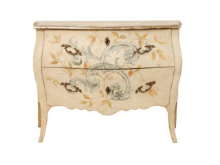 Italian Hand Painted Bombé Chest