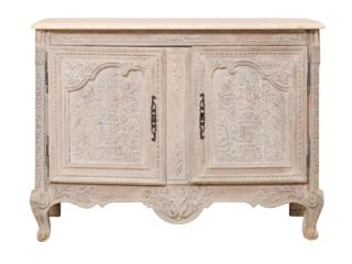 Elaborately Carved French Cabinet