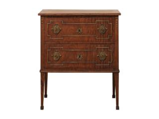 French Mahogany Two-Drawer Chest