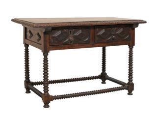 Spanish 18th C. Walnut Desk