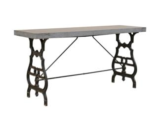 French Honed Granite & Iron Table