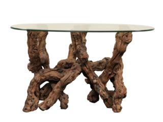 A Grapevine Table w/ Glass Top