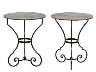 Pair of Petite Bistro Tables