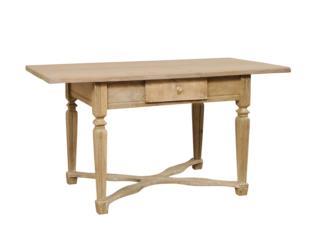 19th C. Swedish Pale Wood Desk