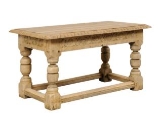 French Baluster Leg Table, 19th C