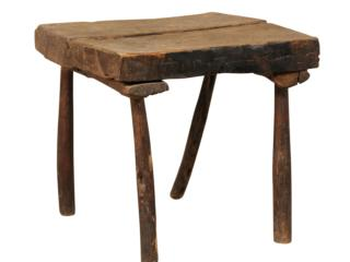 Rustic French Antique Side Table