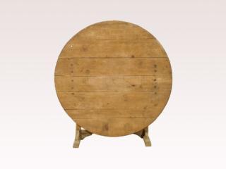A Pale Wood Wine Tasting Table