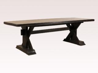Teak Wood Trestle Dining Table