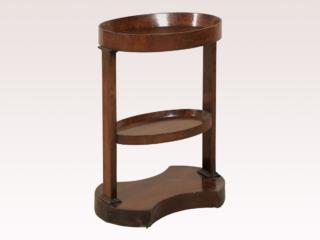 Double Shelf Wood Tray Table