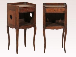 French Stained Wood Side Tables