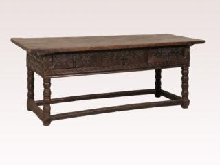 Spanish Wood Carved Console Table