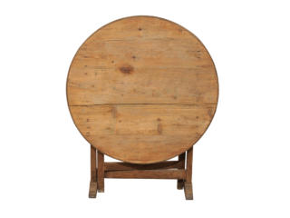 A French Round Wine Tasting Table