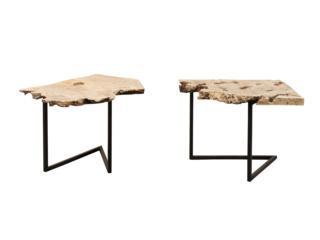 A Single Burl Slice Slab Table