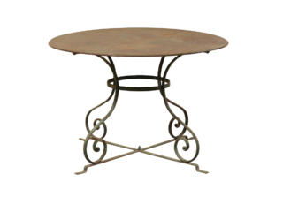 A French Round Patio Dining Table