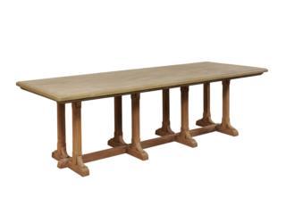 An 8-Legged Trestle Dining Table