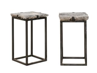 Antique Stone Paver Drink Tables