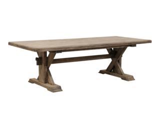 A Reclaimed Teak Trestle Table