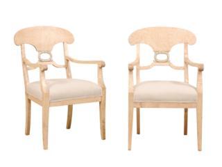 Swedish Beidermeier Arm Chairs