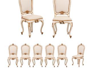 Set of 8 Italian Side Chairs