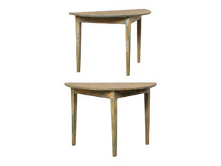 Pair of Swedish Demi-Lune Tables