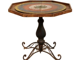 An Antique Crokinole Game Table