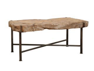 Spanish Wood Slab Coffee Table