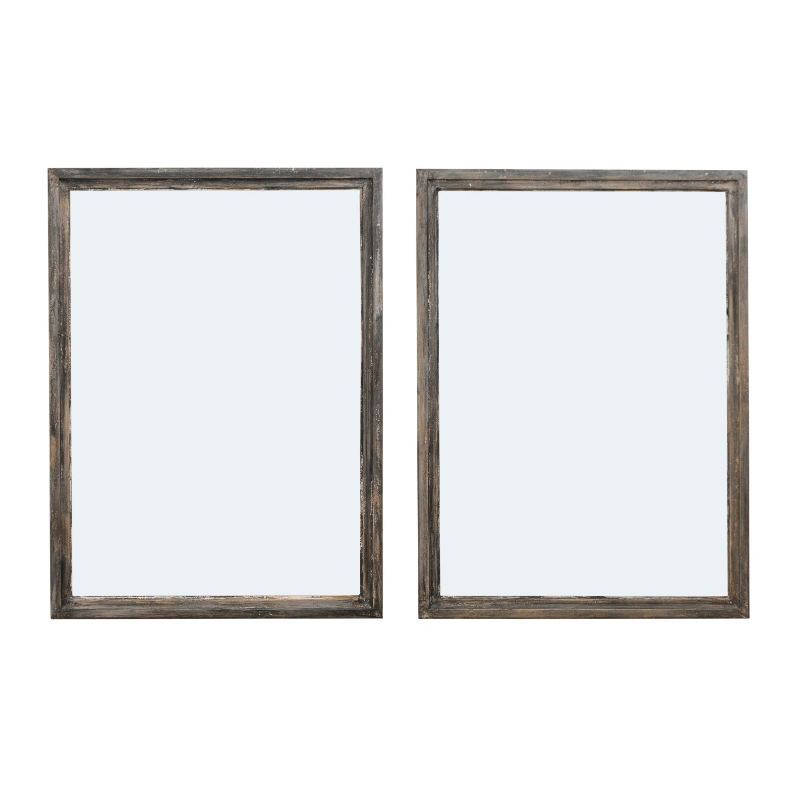 Pair French Rectangular Mirrors
