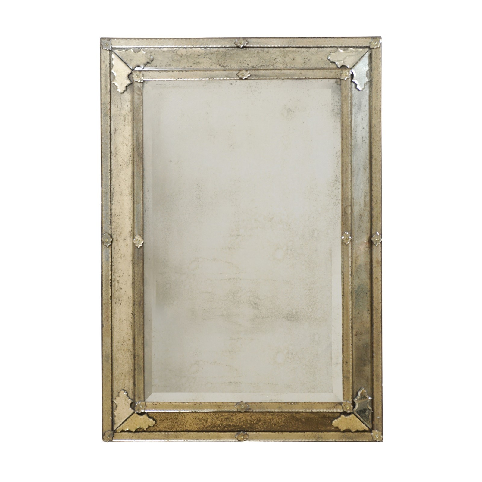 Venetian Style Hand-Silvered Mirror, 4 Ft H