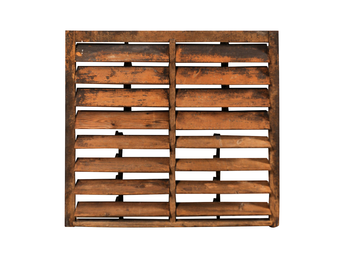 A Large Rustic Wooden Shutter 501 A Tyner Antiques