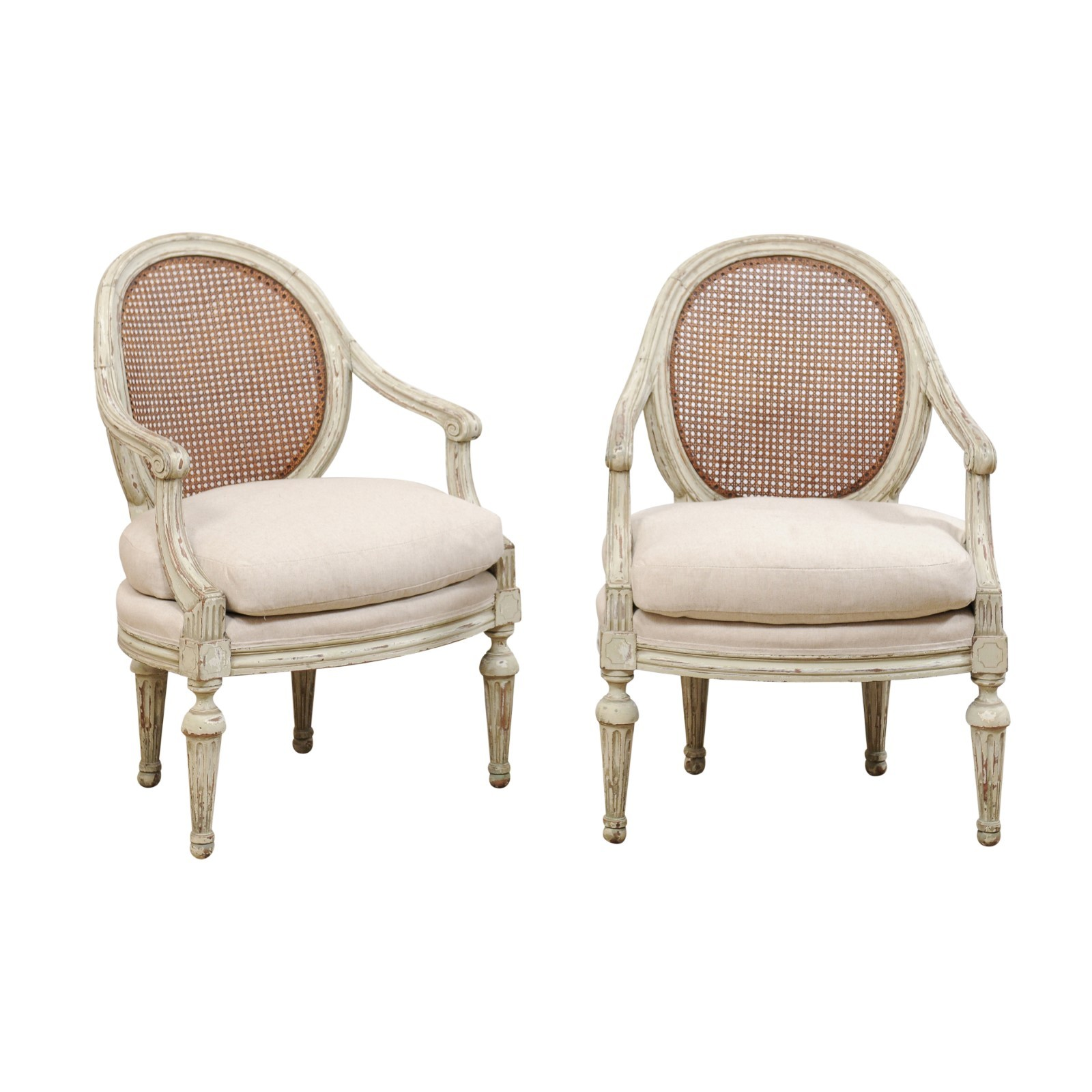 Antique Louis XVI Style Bergeres Chairs