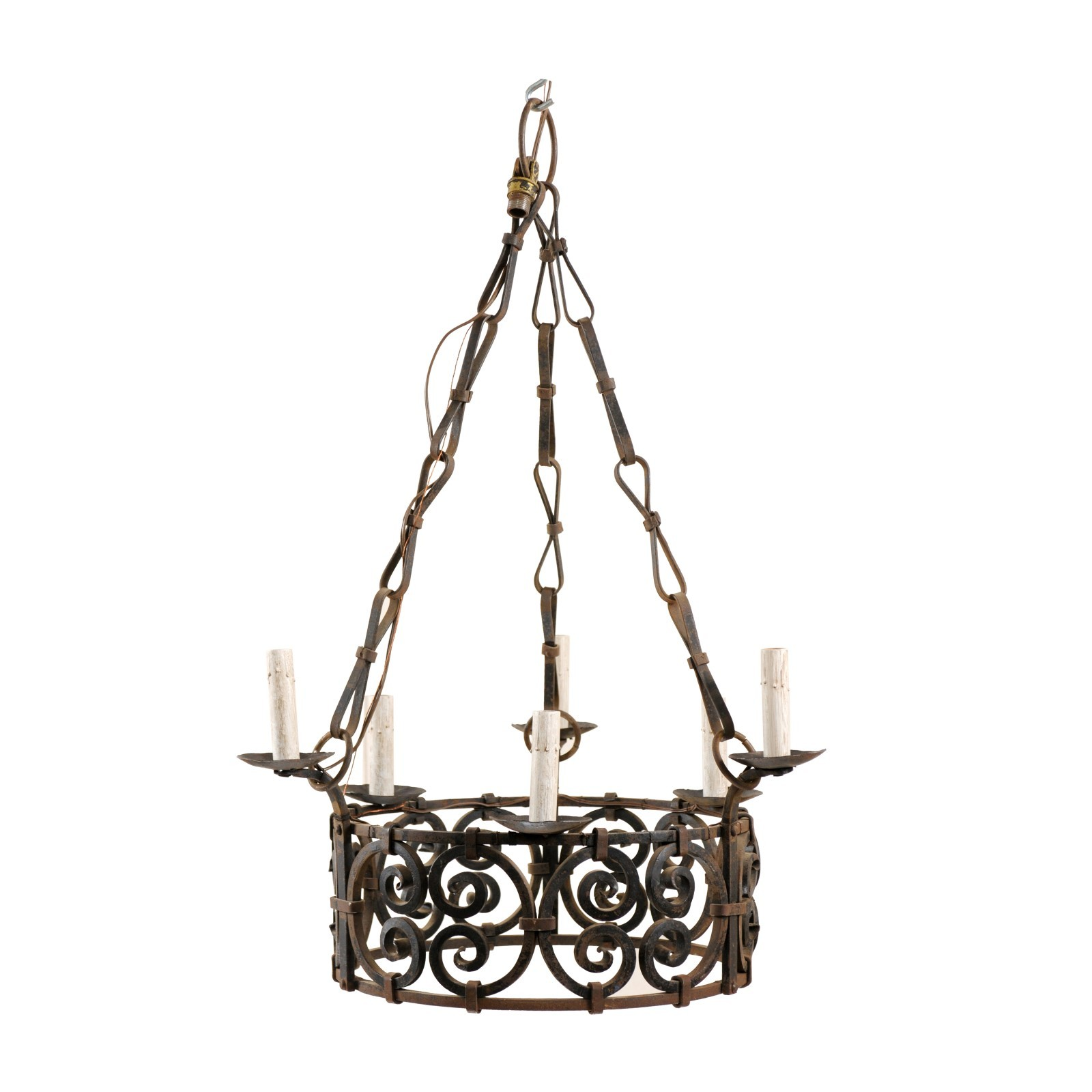 Intricate French Ring Chandelier