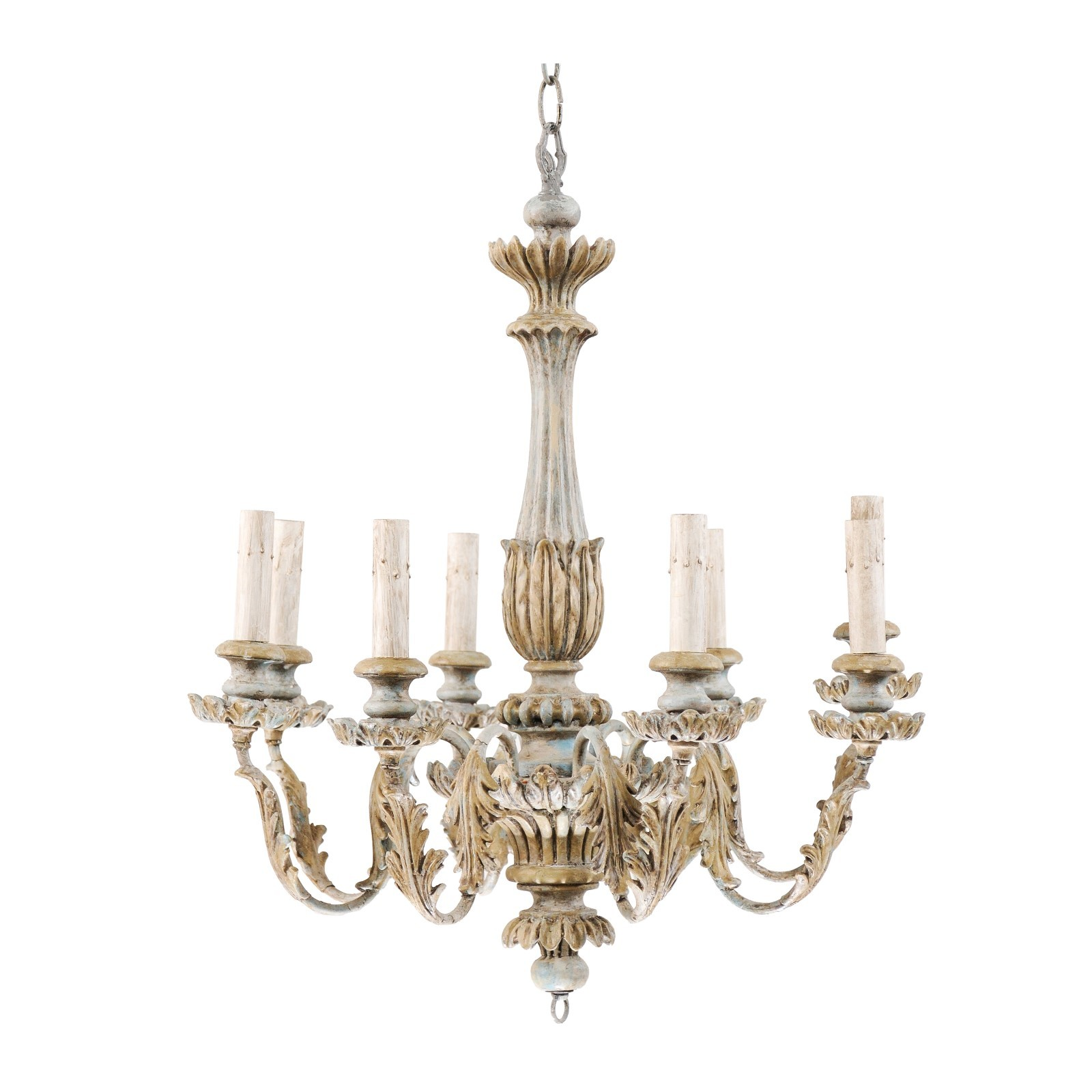 French 8-Light Chandelier, Mid 20th C.